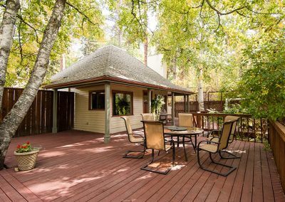 Birch Tree Cottage Outdoor Seating