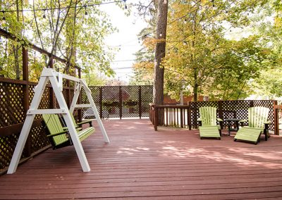 Cottage deck seating