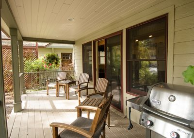 Cottage deck grill and seating