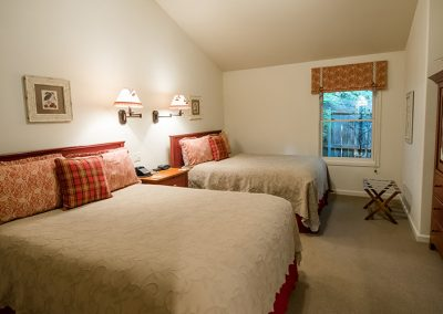 Cottage bedroom, two full beds